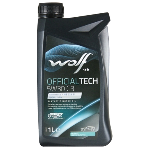 Моторное масло Wolf Officialtech 5W30 C3 1 л Моторные масла
