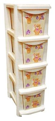 Бельевой комод Little Angel Для игрушек 4 секции 245