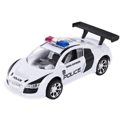 Купить Легковой автомобиль Пламенный мотор Полиция (87643) 18 см белый, Машинки и техника
