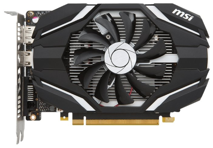 MSI GeForce GTX 1050 Ti 1341Mhz PCI-E 3.0 4096Mb 7008Mhz 128 bit DVI HDMI HDCP OC