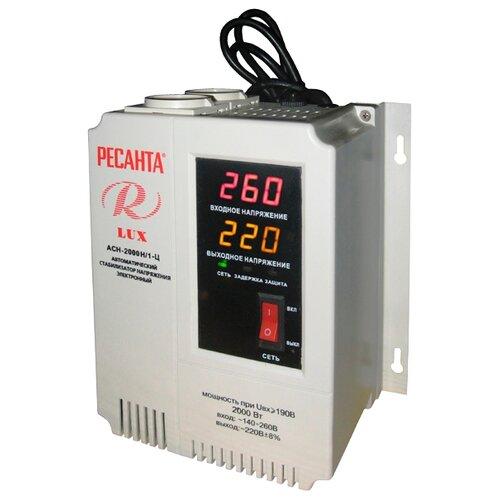 Стабилизатор напряжения РЕСАНТА LUX АСН-2000Н/1-ЦСтабилизаторы напряжения<br>