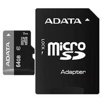 Карта памяти ADATA microSDHC Class 10 + SD adapter