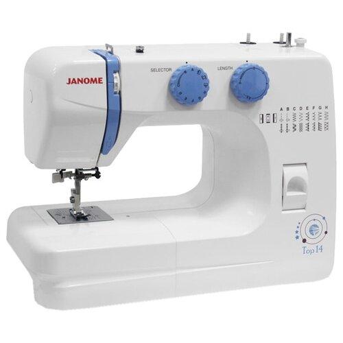 Швейная машина Janome Top 14, бело-голубой