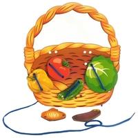 Шнуровка Бэмби Корзина с овощами (7928)