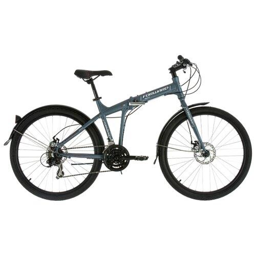 Городской велосипед FORWARD Tracer 2.0 Disc (2018) серый 17 (требует финальной сборки)Велосипеды<br>
