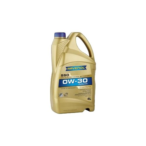 Синтетическое моторное масло Ravenol Super Synthetic SSO SAE 0W-30 4 л моторное масло ravenol super synthetik öl ssl sae 0w 40 5 л
