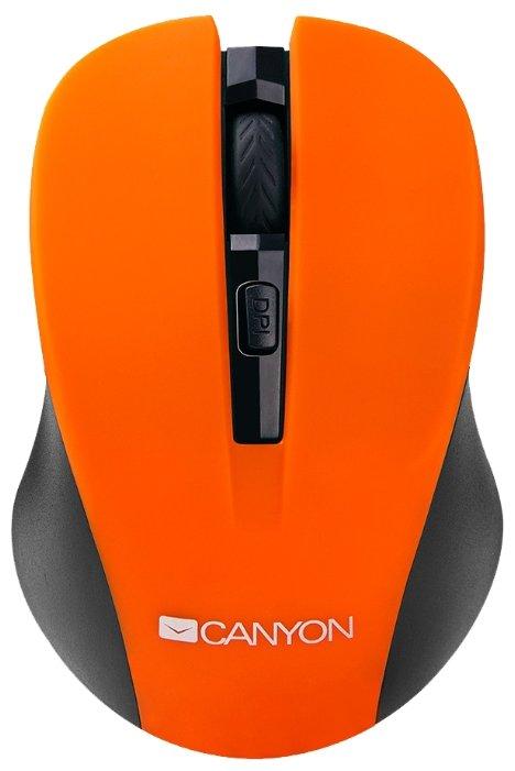 Мышь беспроводная Canyon CNE-CMSW1O оранжевый USB