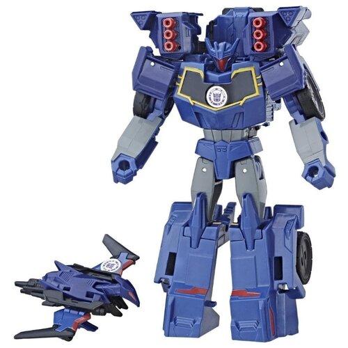 Купить Трансформер Hasbro Transformers Саундвейв и Лазербик. Гирхэд-Комбайнер (Роботы под прикрытием) C2353 синий, Роботы и трансформеры