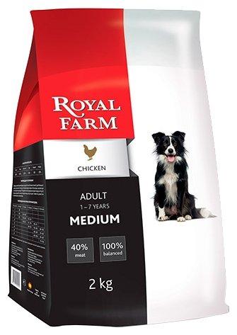 Royal Farm (12 кг) Сухой корм для собак Adult Medium Chicken