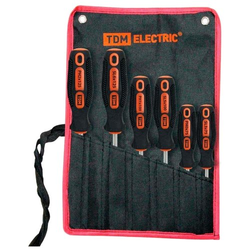 Набор отверток TDM ЕLECTRIC (6 шт.) SQ1013-0203 черный/оранжевый