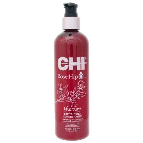 CHI кондиционер Rose Hip Oil Color Nurture Protecting, 340 мл chi luxury black seed oil curl defining cream gel