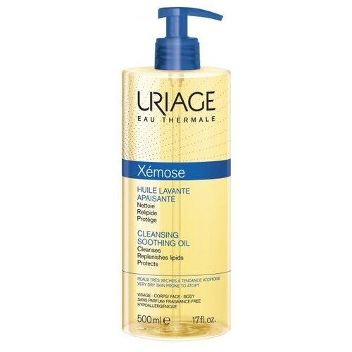Uriage масло очищающее успокаивающее Xemose, 500 мл uriage мягкий очищающий пенящийся гель синдет xemose 500 мл