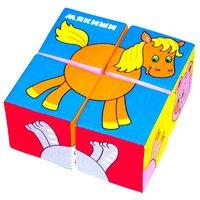 Кубики-пазлы Мякиши Собери картинку Домашние животные