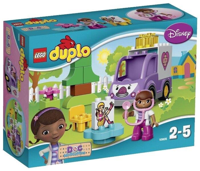 Классический конструктор LEGO Duplo 10605 Скорая помощь Рози доктора Плюшевой