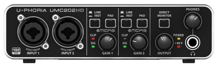 Аудиоинтерфейс Behringer U-PHORIA UMC202HD