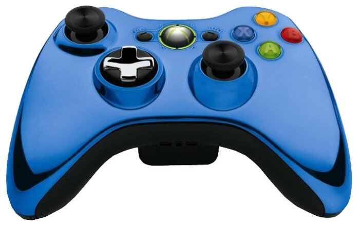 Microsoft Геймпад Microsoft Xbox 360 Wireless Controller Chrome Series