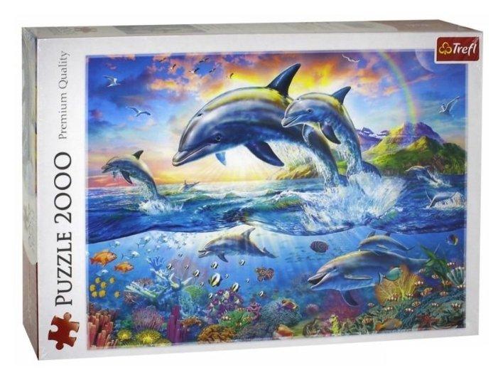 Пазл Trefl Счастливые дельфины (27087), 2000 дет.
