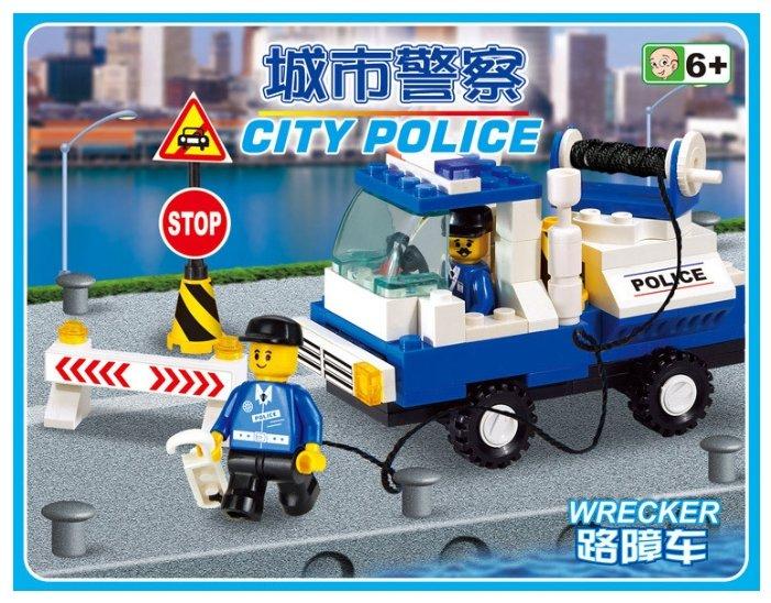 Классический конструктор SLUBAN Городская серия M38-B900 Полицейский эвакуатор