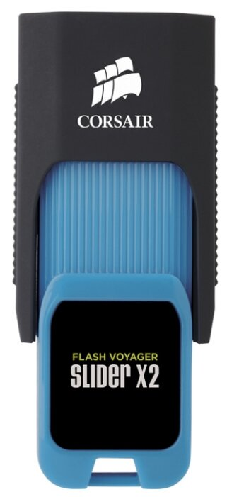 CORSAIR 64Gb Voyager Slider X2 CMFSL3X2-64GB USB3.0 черный