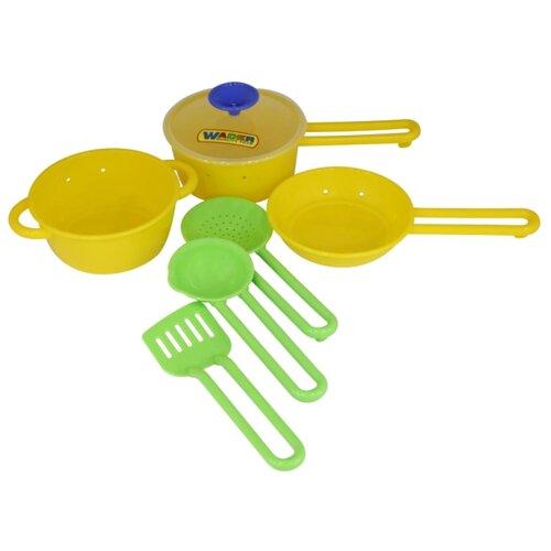 Набор посуды Полесье Поварёнок №1 40688 желтый/зеленыйИгрушечная еда и посуда<br>
