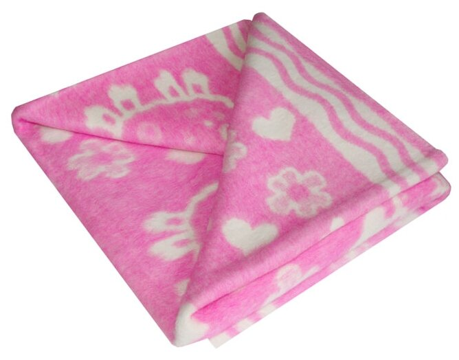 Одеяло байковое Ермолино (цвет: синий, 100x132 см)
