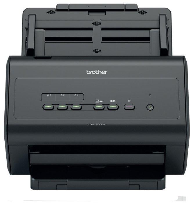 Brother ADS-3000N - Автономный сетевой сканер. A4, 600dpi, дуплекс, RJ45/USB3.0, 50стр\мин., ADF на 50 листов, до 5000 листов в сутки. (ADS3000NUX1)