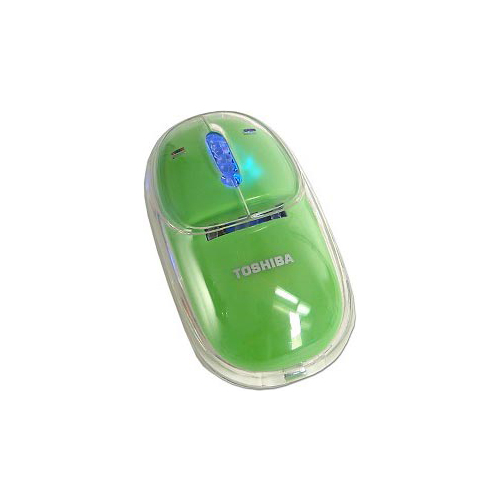 Мышь Toshiba Optical Scrol Mouse Green USB