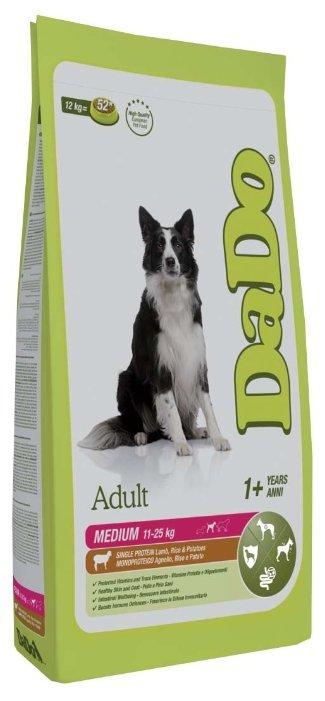 Корм для собак DaDo Для собак средних пород с ягненком, рисом и картофелем