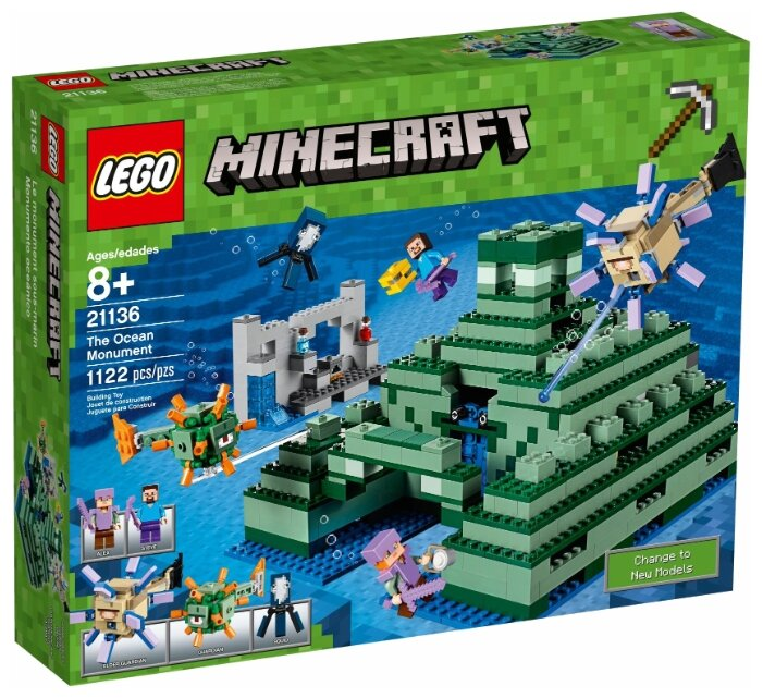 Конструктор LEGO Minecraft 21136 Подводная крепость