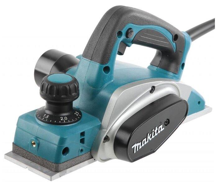 Электрорубанок Makita KP0800 синий/черный/серый
