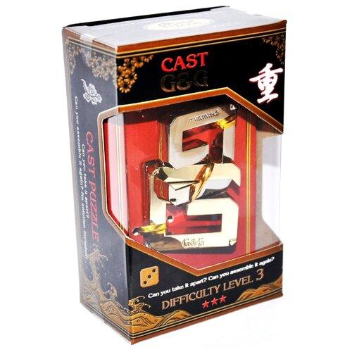 Головоломка Cast Puzzle G&G, уровень сложности 3 (HZ 3-08) серый/желтый головоломка cast puzzle mobius 55208 желтый
