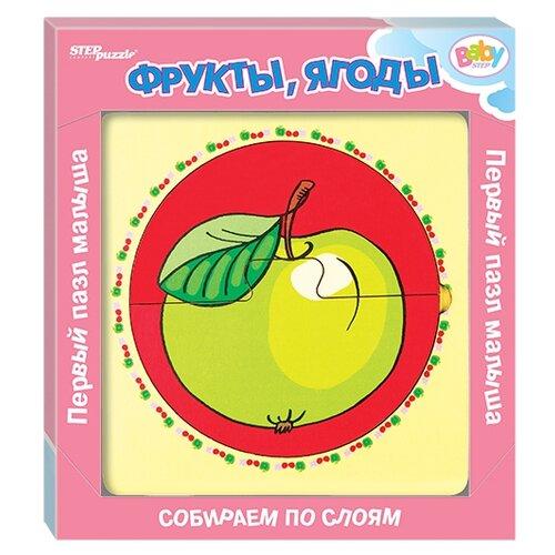 Фото - Рамка-вкладыш Step puzzle Baby Step Фрукты, ягоды (89064), 6 дет. рамка вкладыш step puzzle baby step мышонок 89069 7 дет