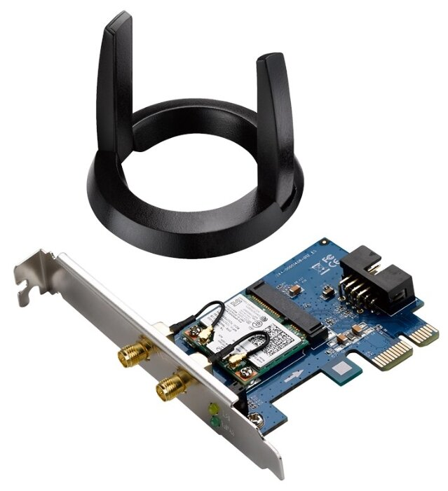 Asus PCE-AC55BT B1 Адаптер Wi-Fi Bluetooth 4.0, 2x ext Antenna