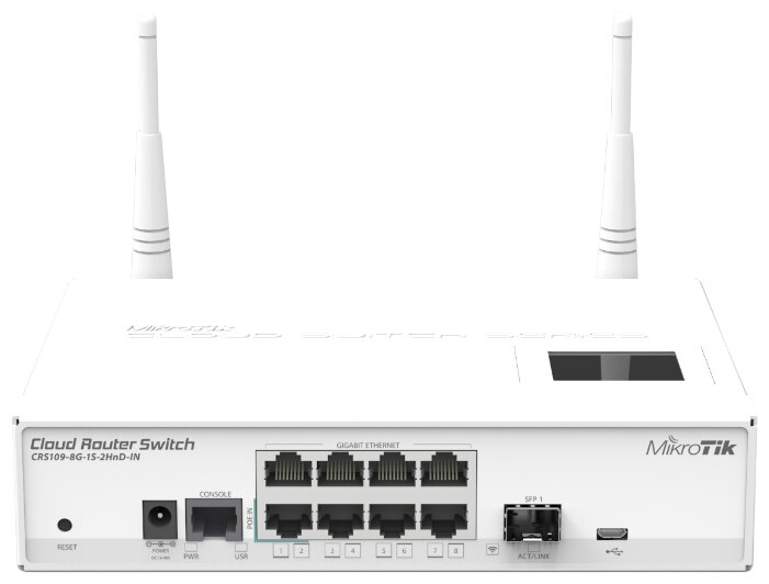 MikroTik Wi-Fi роутер MikroTik CRS109-8G-1S-2HnD-IN