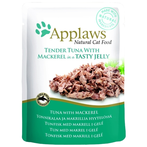Applaws (0.07 кг) 1 шт. Cat Pouch Tender Tuna with Mackerel in a tasty jelly Корма для кошек