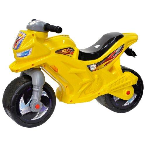Каталка-толокар Orion Toys Мотоцикл 2-х колесный (501) желтый каталка толокар orion toys мотоцикл 2 х колесный 501 зеленый
