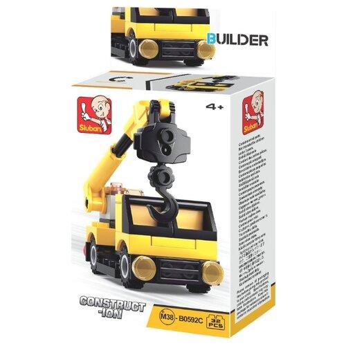 Купить Конструктор SLUBAN Builder M38-B0592C Машина-кран, Конструкторы