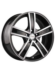 Диски Racing Wheels H-412 7,5x18 5x100 D73.1 ET25 цвет BK/FP - фото 1