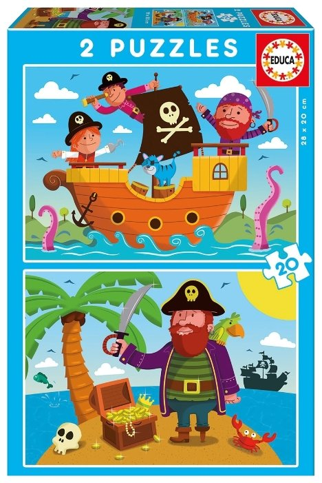 Набор пазлов Educa Пираты (17149)