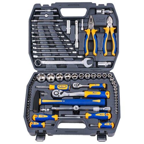 Набор инструментов KRAFT (73 предм.) KT 700677 набор инструментов kraft professional с сумкой 23 предметов