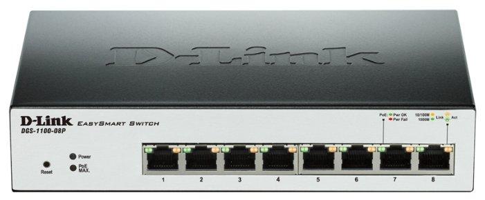 D-link Коммутатор D-link DGS-1100-08P
