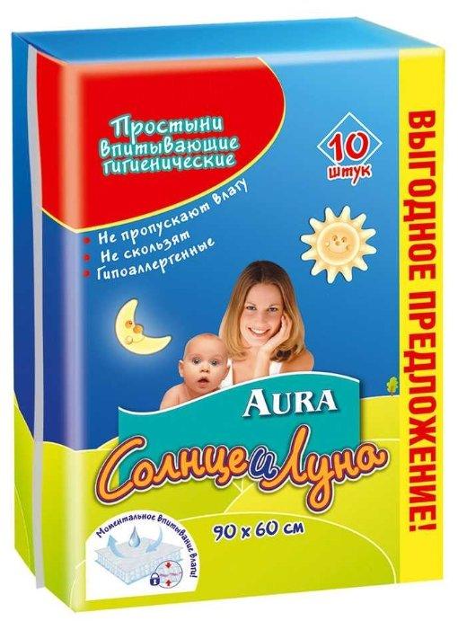 Одноразовые пеленки Aura Солнце и Луна 60х90