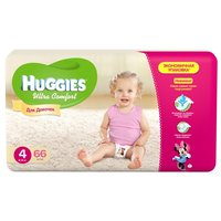 Huggies  Ultra Comfort для девочек 4 (8-14 кг) 66 шт.