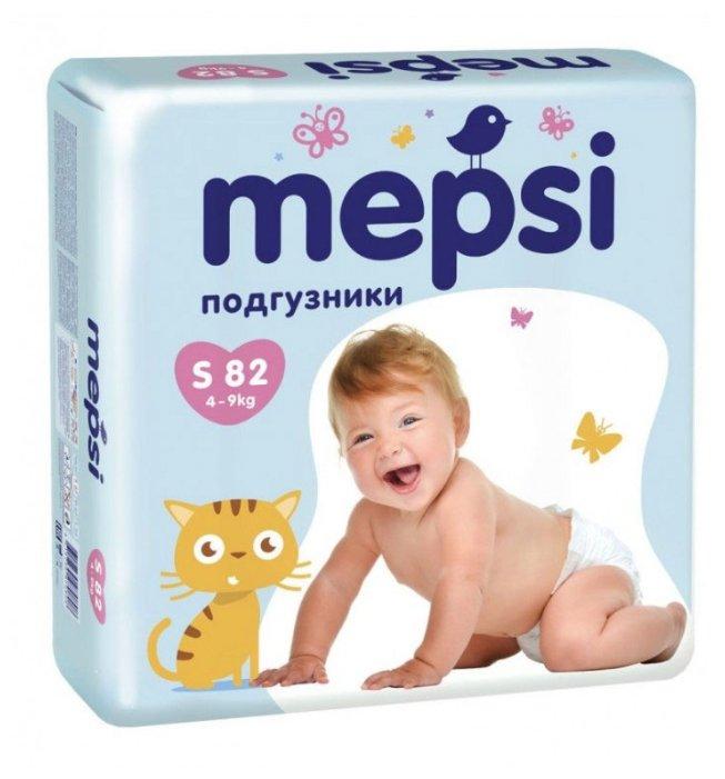 Купить Mepsi подгузник S (4-9 кг) 82 шт. по низкой цене с доставкой из Яндекс.Маркета (бывший Беру)
