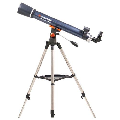 Телескоп Celestron AstroMaster LT 70 AZ синий цена 2017