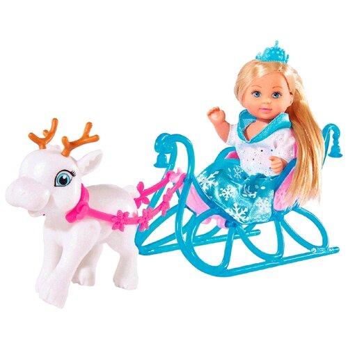 Кукла Simba Еви на санях, 12 см, 5737248, Куклы и пупсы  - купить со скидкой