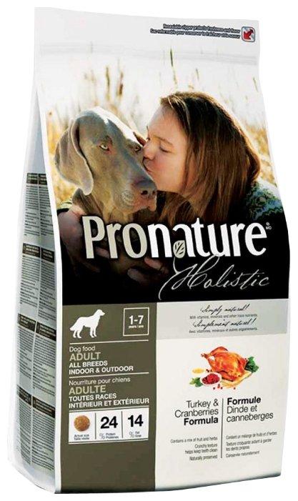 Корм для собак ProNature Holistic индейка с клюквой 13.6 кг