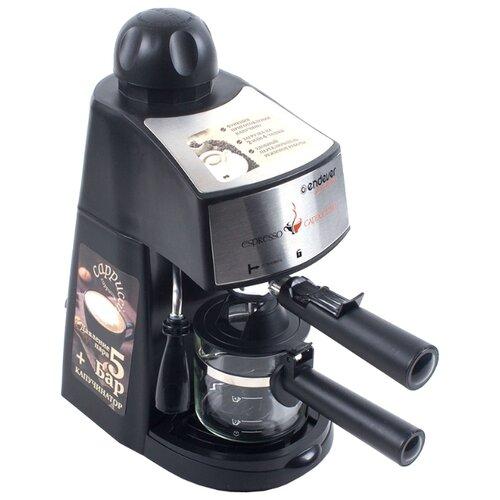 Кофеварка рожковая ENDEVER Costa-1050 черный/стальнойКофеварки и кофемашины<br>