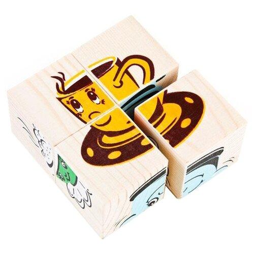 Купить Кубики-пазлы Томик Посуда 3333-4, Детские кубики