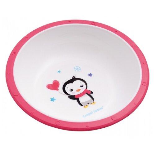 Купить Тарелка Canpol Babies Little cow (4/416) пингвиненок розовая, Посуда